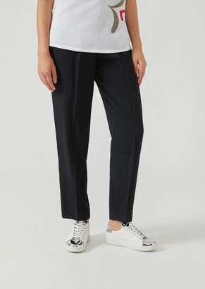 Emporio Armani Cady Trousers With Waist Darts