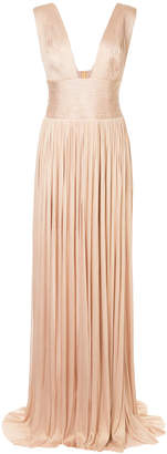 Maria Lucia Hohan pleated design gown
