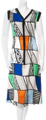 Novis Printed Silk Midi Dress w/ Tags