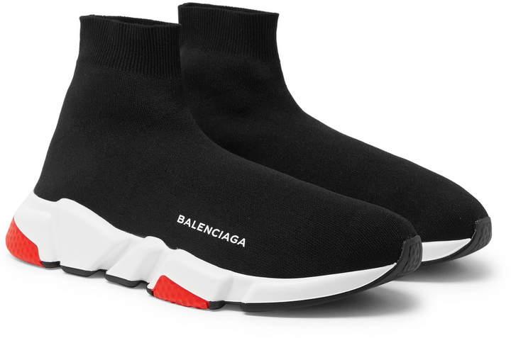 Speed Sock Stretch-Knit Slip-On Sneakers