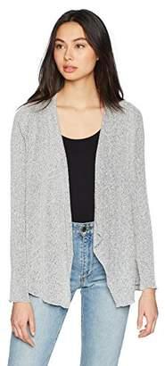 Three Dots Women's Boucle Sweater Knit Short Loose Cardigan