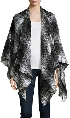 Lord & Taylor Textured Plaid Poncho $78 thestylecure.com