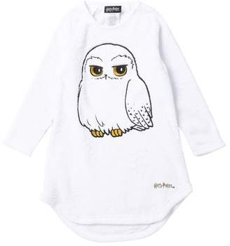 Intimo Harry Potter Hedwig Raglan Sleeve Fleece Nightgown (Little Girls & Big Girls)