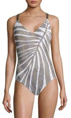 Gottex Swim One-Piece V-Neck Swimsuit