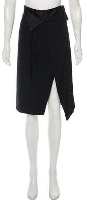Halston Contrast Knee-Length Skirt