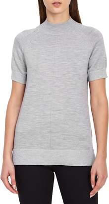 Reiss Wool Blend Metallic Short Sleeve Sweater