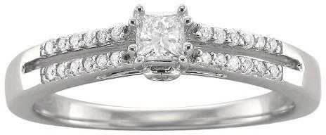Diamond 1/3 CT.T.W. Split Shank Princess-cut Ring in 10K White Gold (G-H, I1)