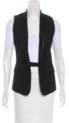 Barbara Bui Wool Notch-Lapel Vest