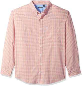 Izod Men's Breeze Plaid Long Sleeve Shirt (Big & Tall)