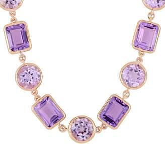 Sterling & 14K 50.65 cttw Gemstone Station Necklace
