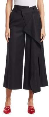 Monse Stretch Tuxedo Flare Culottes