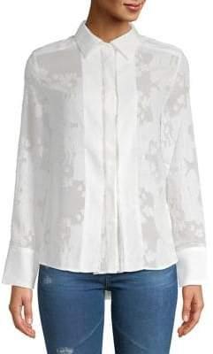 Caara Elina Sheer Button-Down Shirt