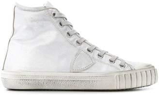 Philippe Model metallic hi-top Gare sneakers