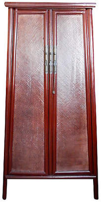 One Kings Lane Vintage Rattan-Door Armoire