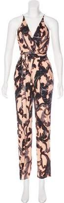 Issa Sleeveless Print Jumpsuit