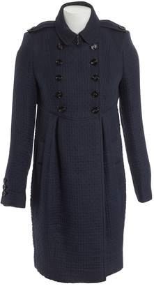 Burberry Navy Wool Coats