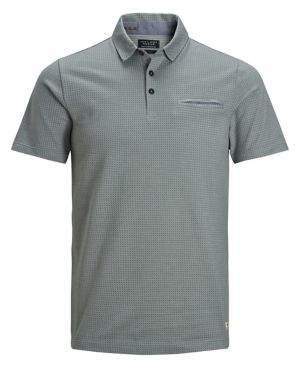 Jack and Jones Cotton-Blend Short-Sleeve Polo