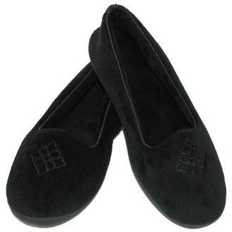 Dearfoams Size Small Women's Terry Velour Embroidered Closed Back Slipper
