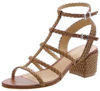 Schutz Rosalia Braided Leather Caged Sandals