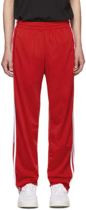 adidas Red Firebird Track Pants