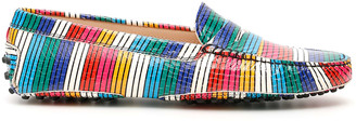 Tod's Tods Multicolor Striped Loafers