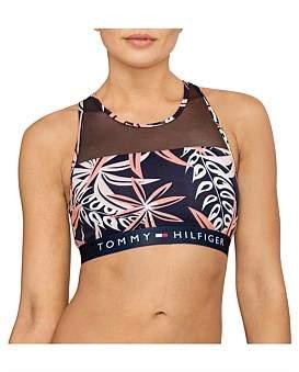 Tommy Hilfiger Sheer Flex Cotton Bralette Aloha Print
