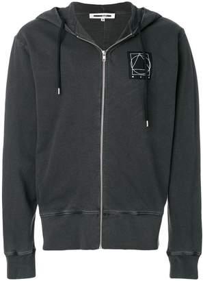 McQ Glyph Icon zipped hoodie