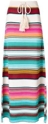 Laneus striped drawstring skirt