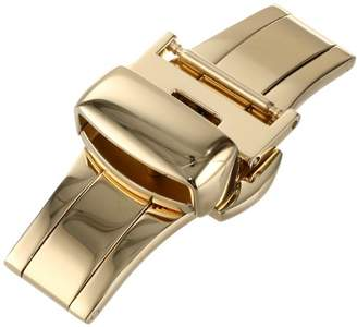 Hadley-Roma 14-mm IP Yellow Gold-Plated Push Button Deployant Clasp