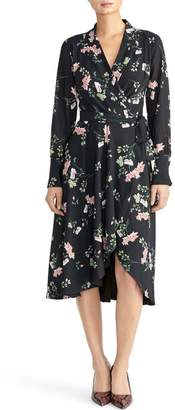 Rachel Roy COLLECTION Cascade Floral Wrap Dress