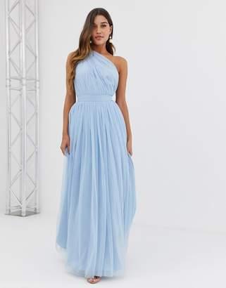 84da20b02ae3 Asos Design DESIGN Tulle One Shoulder Maxi Dress