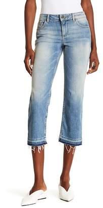Alice + Olivia Tasha Cropped Frayed Jeans