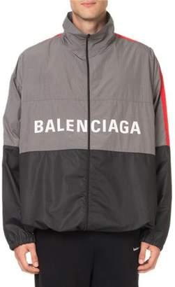 Balenciaga Men's Colorblock Wind-Resistant Jacket