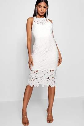 abc1c155543 boohoo Lace Sweetheart Bodycon Midi Dress