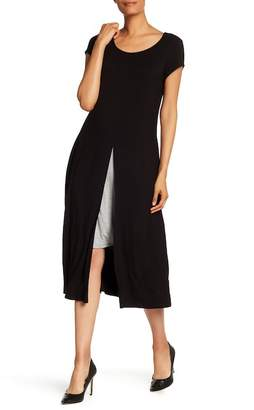 Connected Apparel Draped Dress