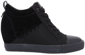 70mm Rory Nylon Wedged Sneakers $131 thestylecure.com