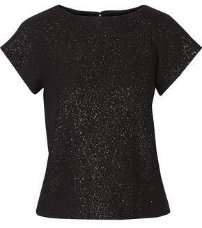 Alice + Olivia Solange Metallic Cotton-Blend T-Shirt