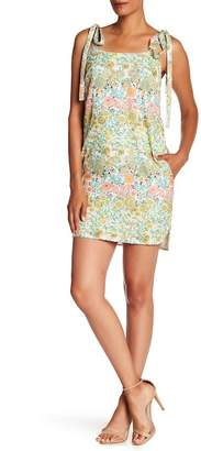Rachel Roy Shoulder Tie Floral Mini Dress