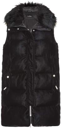 Sam Edelman Velvet and Faux Fur Vest