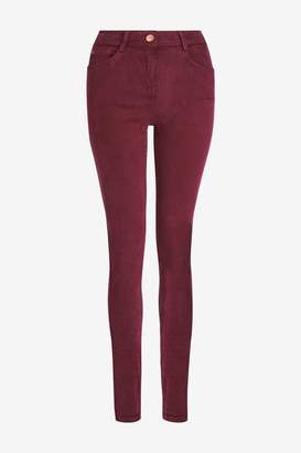 Next Womens Berry Soft Touch Skinny Jeans - Red