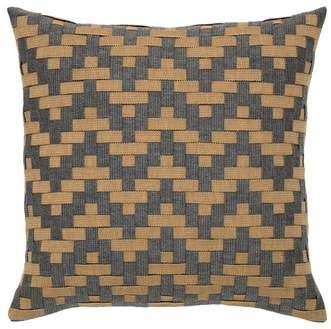 Smoke Basket Weave Indoor/Outdoor Accent Pillow