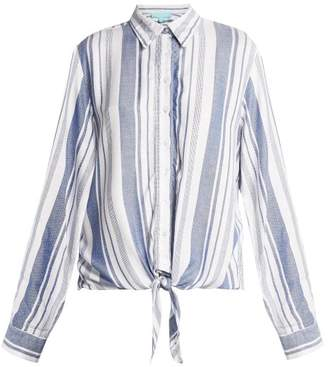 Melissa Odabash Inny Striped Beach Shirt - Womens - Blue Stripe