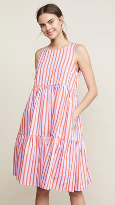 MDS Stripes Sleeveless Peasant Dress