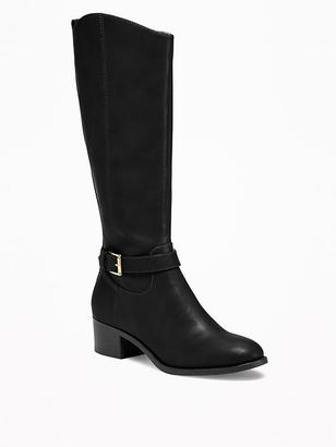 Tall Side-Buckle Riding Boots for Women $52.94 thestylecure.com