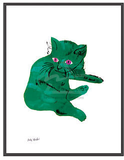Warhol, Untitled, Green Cat