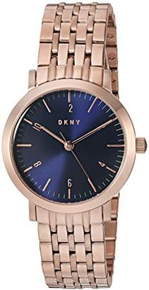 DKNY Women's 'Minetta' Quartz and Stainless-Steel-Plated Casual Watch
