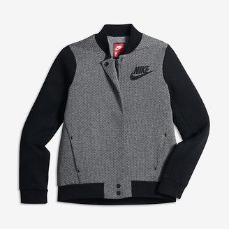 Nike Sportswear Tech Fleece Destroyer Big Kids' (Girls') Jacket $100 thestylecure.com