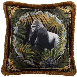 Bob Gorilla Printed Silk Accent Pillow