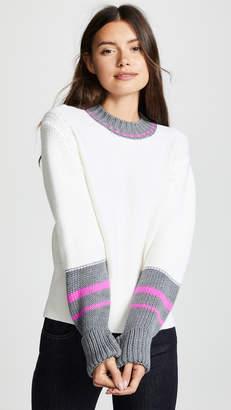 Jason Wu Grey Colorblock Crew Neck Long Sleeve Sweater