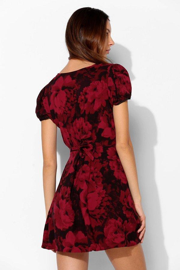 Motel Tahnee Button-Front Dress